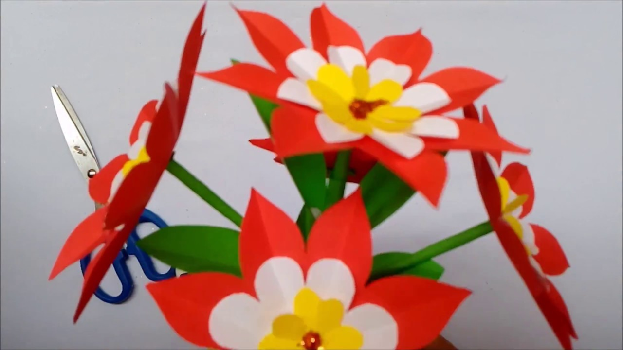Origami Videos Tutorials How To Make Origami Paper Flowers Videos