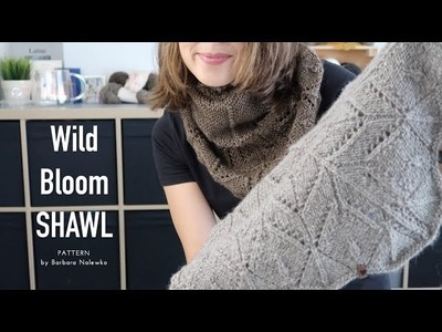 Wild Bloom Shawl by Barbara Nalewko ❤︎  finished object ❤︎ knitting ILove