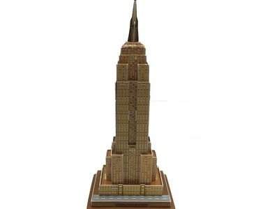 3D Puzzle DIY, Assembly 3D Paper Model Empire State Building U.S.A