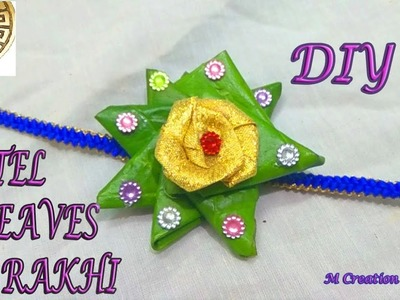 Betel leaves rakhi.diy easy to make INNOVATIVE rakhi