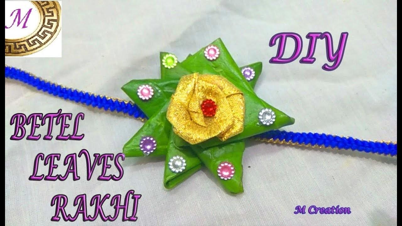 Betel leaves rakhi.diy easy to make INNOVATIVE rakhi