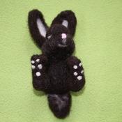 Black needle felted Bunny