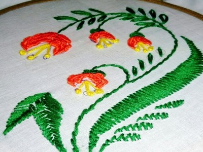 Corner Hand Embroidery design for Handkerchief.Table Cloth by Srija's Creation