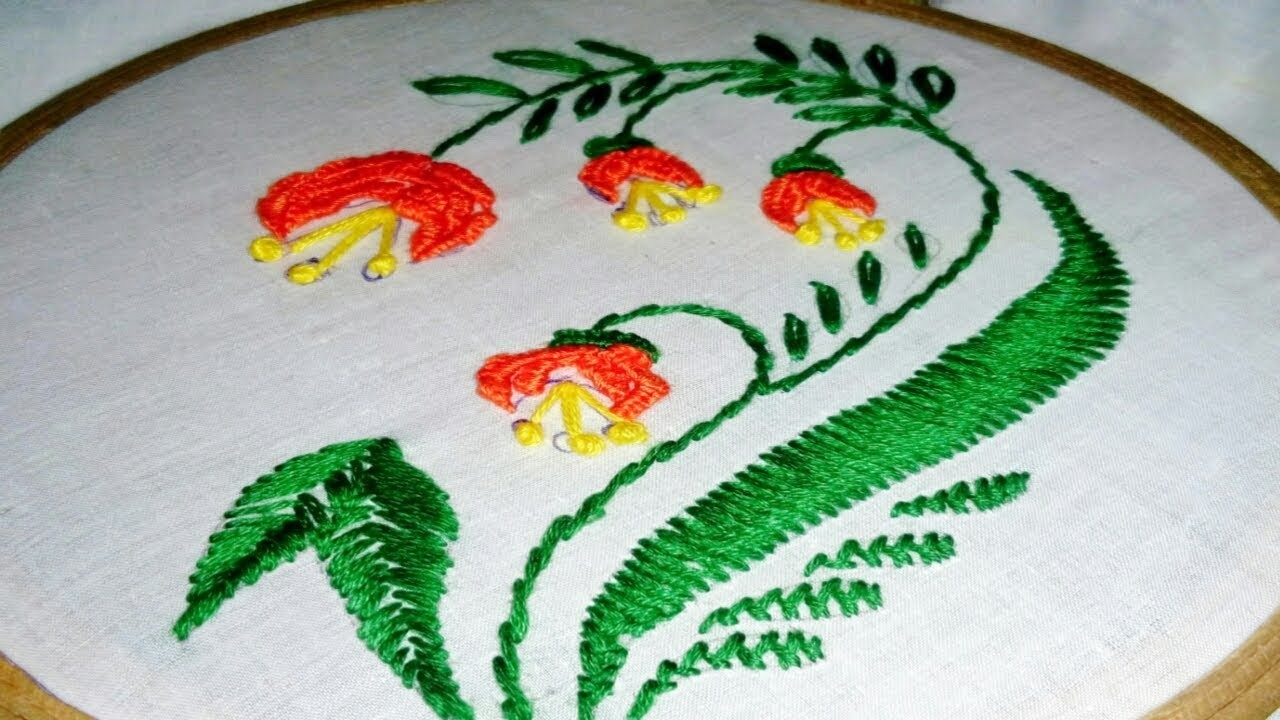 Cloth Embroidery Designs | Corner Hand Embroidery Design For Handkerchief Table Cloth By Srijas