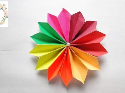 DIY Accordion Paper Flower | Accordion Paper Folding