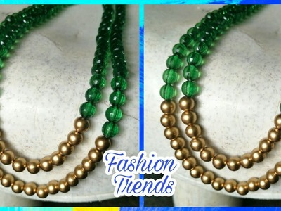 DIY Beads Necklace    DIY Long Necklace at Home