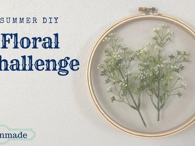 DIY Floral Challenge Summer 2018 | Embroidery Hoop Art