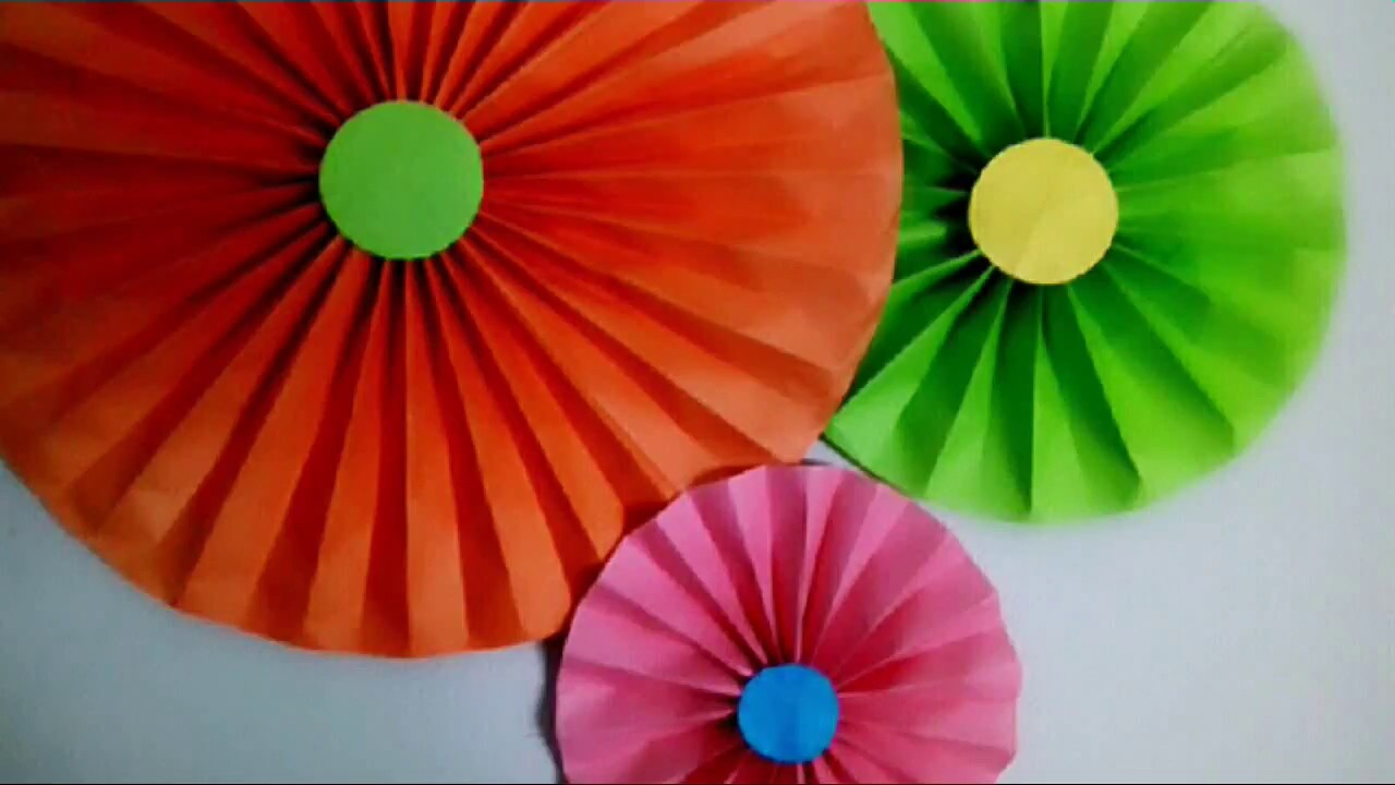 DIY Paper Fan || Party Decoration, Very Easy and Cheap Paper Rosettes