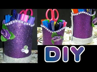 DIY Pen.Pencil holder | Gliter foam sheet pencil stand|Easy & Beautiful Diy