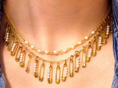 DIY Safety Pin Statement Necklace
