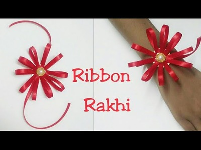 Diy satin ribbon rakhi | how to make rakhi for kids | rakhi making tutorial