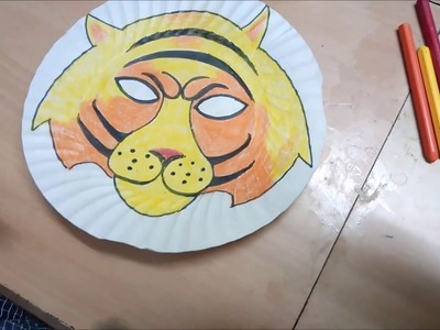 DIY - Tiger Mask From Paper Dish.Plate For Kids