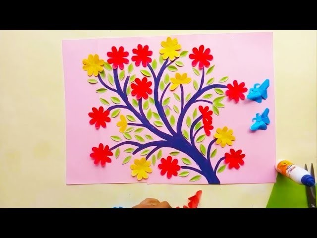Diy | Wall Hangers With Art Paper For Room Decoration | Paper Flowers Pro