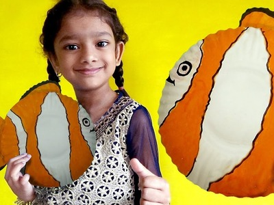 FISH MAKING USE PAPER PLATES | HOW TO MAKE FISH WITH PAPER PLATES FOR KIDS |  FISH CRAFT FOR KIDS |