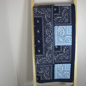 Handmade,Baby quilt,Toddler,New,100%cotton,Bandana western style,patchwork,