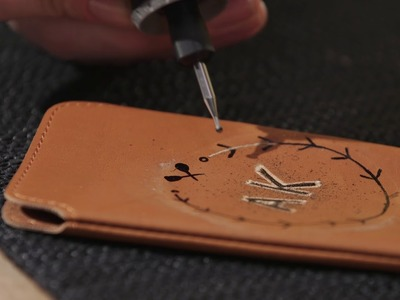 How to Engrave your Personal Leather Phone Case DIY