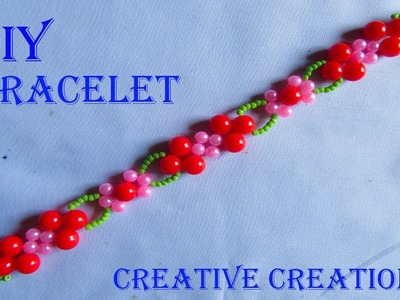 How to make a beautiful Bracelet at home by Creative Creations