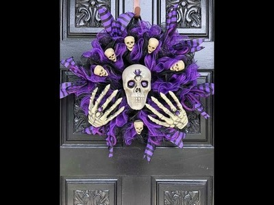 How to make a Dollar tree Halloween wreath