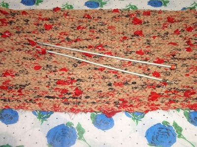 How to make a doormat using old clothes   knit your own diy doormat   Sumita Creations