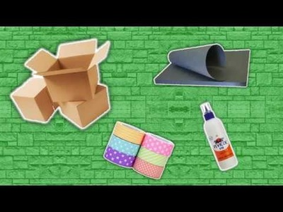 How to make a jewellery box with cardboard