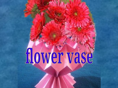 Paper how to make simple easy paper cutting flower design how to how to make a paper flower vase simple crafts with paper mightylinksfo