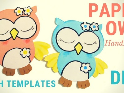 How to make a paper owl crafts step by step l Owl application