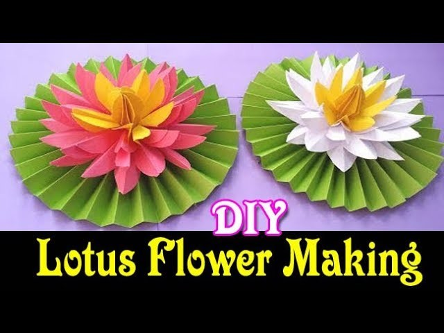 How To Make An Origami Lotus Flower Most Beautiful Lotus Water