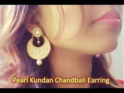 How to make earring. DIY Chandbali Earring.Heavy chandbali earring making