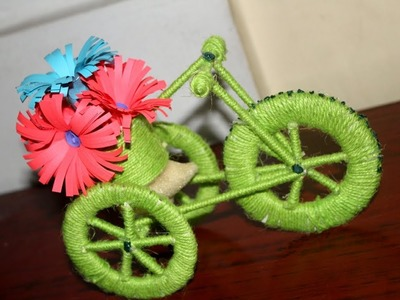 How To Make Easy Bicycle  || Beautiful Home Decoration