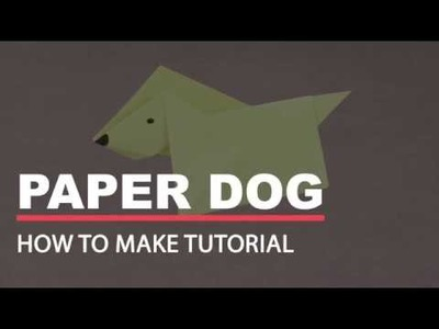 How to Make Paper Dog - Origami Paper Crafts