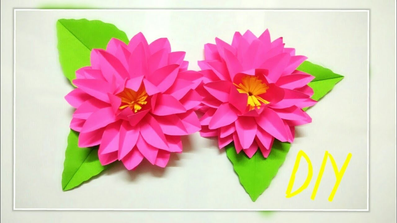 How To Make Paper Flower Diy Paper Flower How To Make Lotus