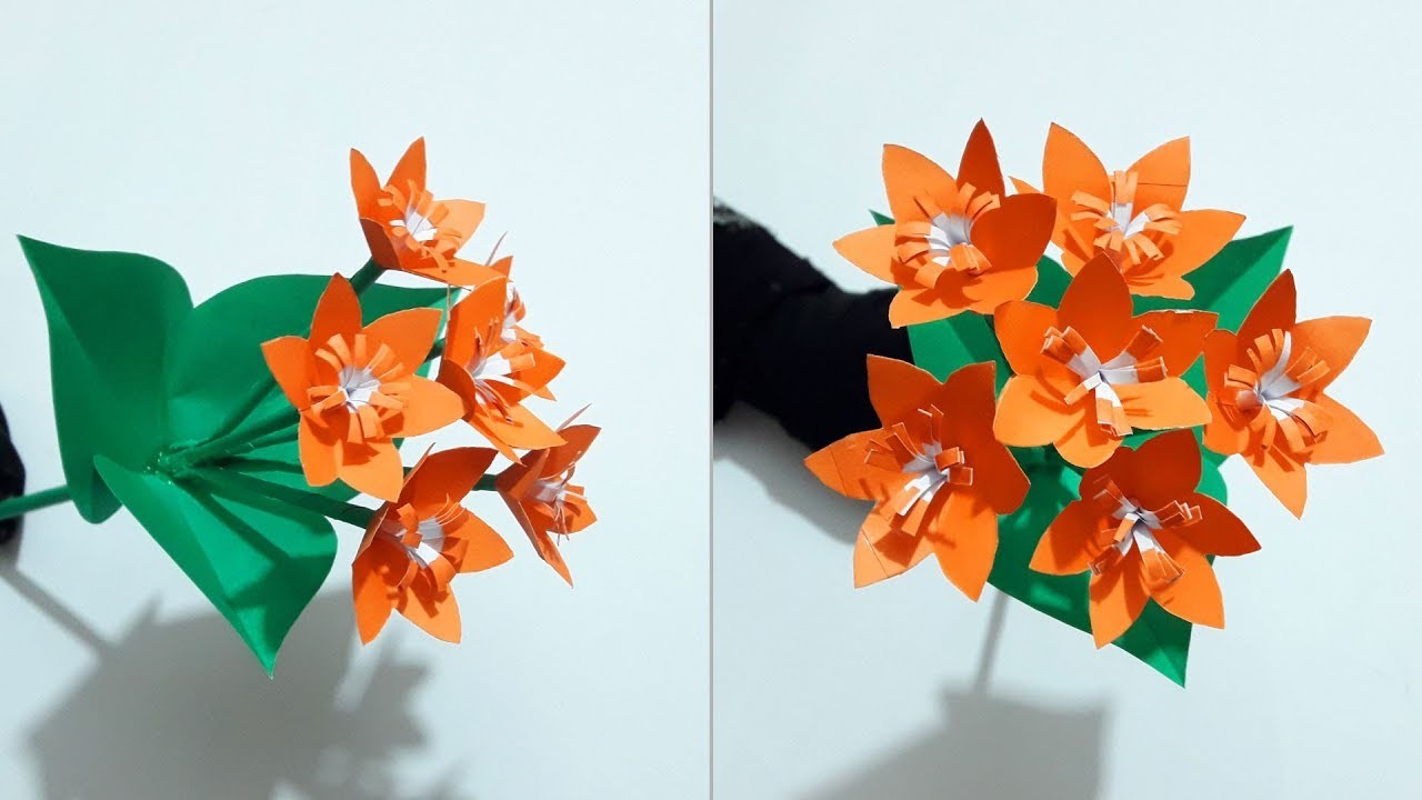 How To Make Paper Flowers Easy For Kids Diy Origami Paper Flower