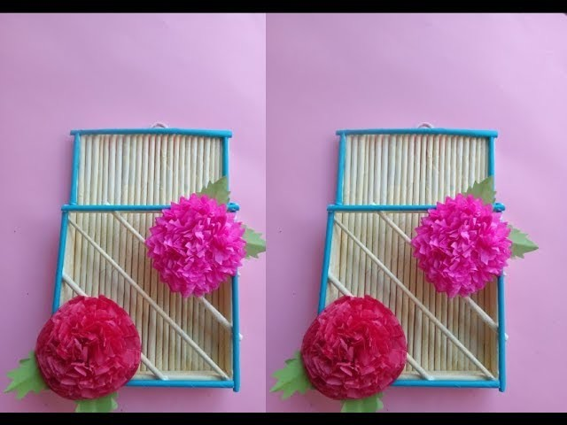 How To Make Paper Wall Hanger Wall Mat Paper Craft Paper Flowers