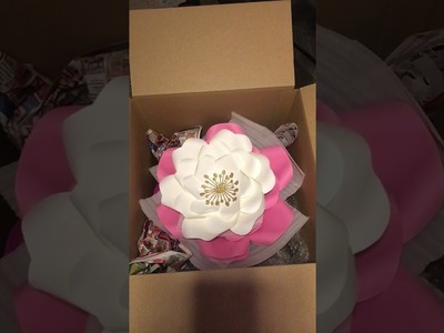 How to package and ship giant paper flowers