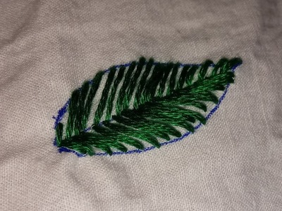 Leaf stitch (hand embroidery)