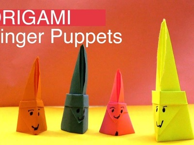 Learn to Make Family Finger Puppets with Paper | Origami DIY Easy Paper Finger Puppets
