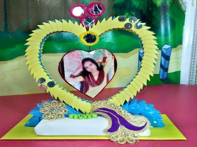 Make Awesome 3D Photo Frame   3d origami showpiece   how to make photo frame using paper   Shathi M 