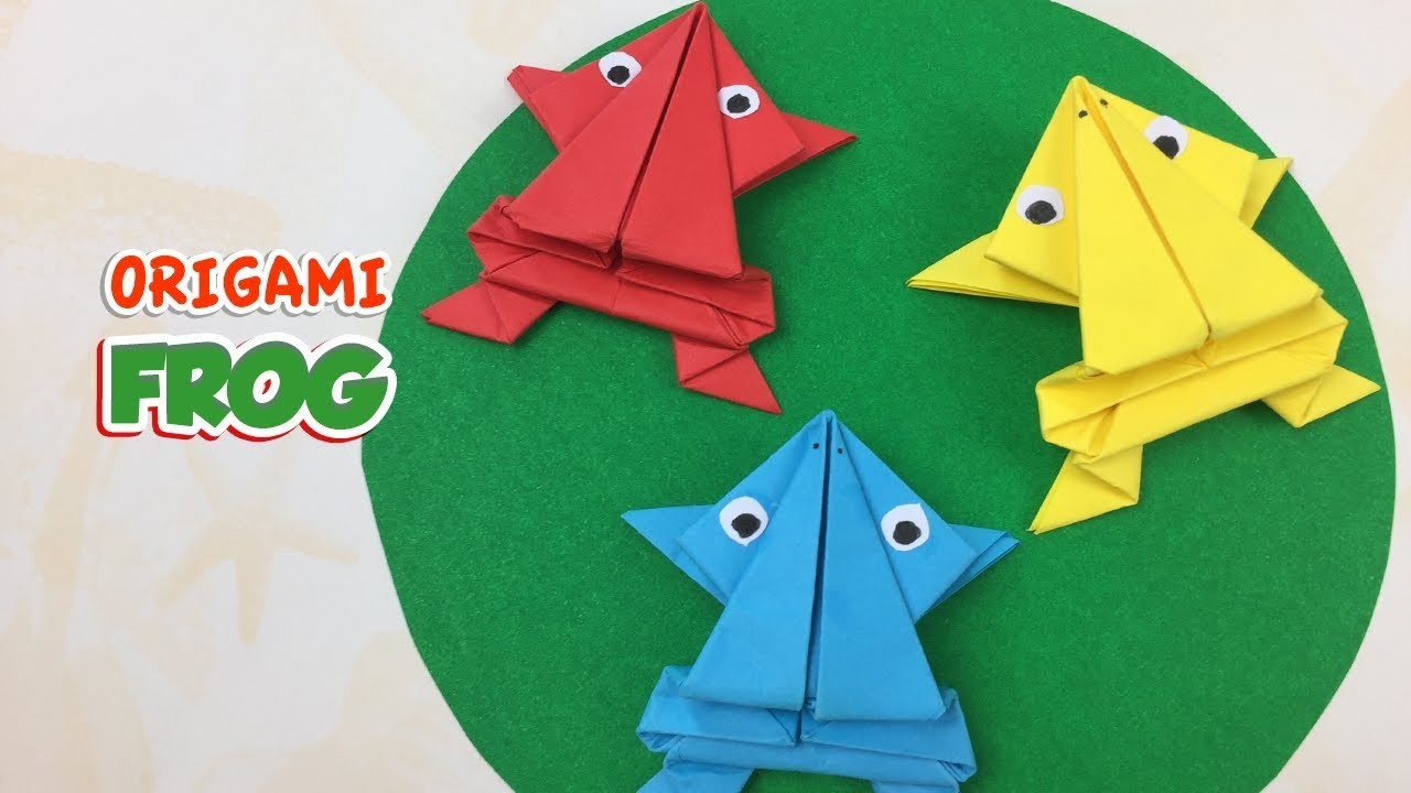 origami frog how to make a simple paper frog easy tutorial