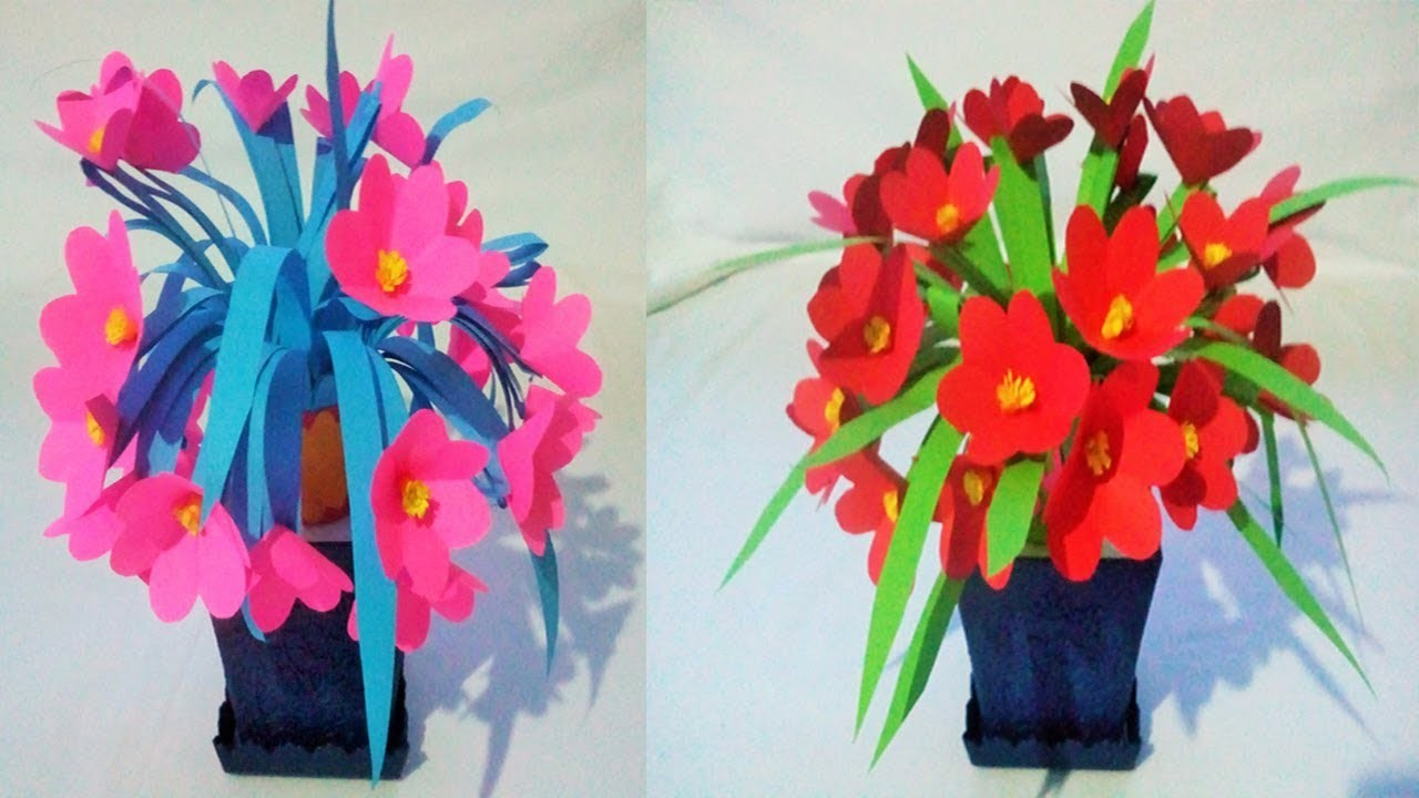 Origami paper how to make beautiful flowers bouquet with color paper izmirmasajfo