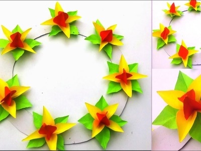 Paper Paper Craft Flowers Wall Hanging Easy Paper Flower Wall