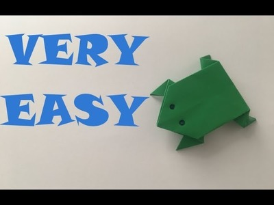 Paper FROG. Very Easy. Origami. How To Make