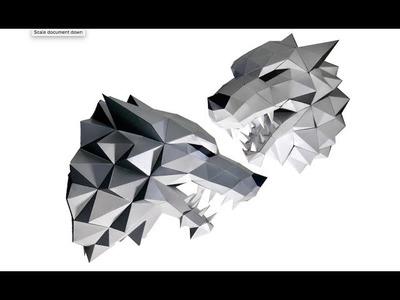 Paperraz 3D Wolf Head Wall Decoration Craft Kit