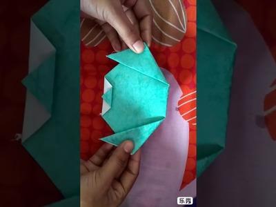 Summer Craft-1 Origami Dog. puppy face