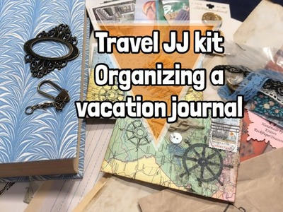 Using a travel JJ kit. how I organize for a vacation journal | I'm A Cool Mom