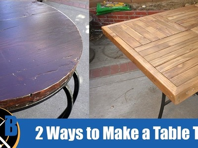 2 Different Ways to Make an Outdoor Table Top :: DIY