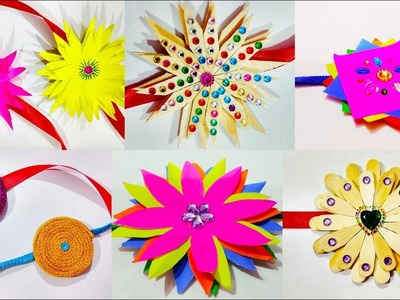 6 easy rakhi designs | Rakhi making | Rakhi design ideas | How to make rakhi for School Competition