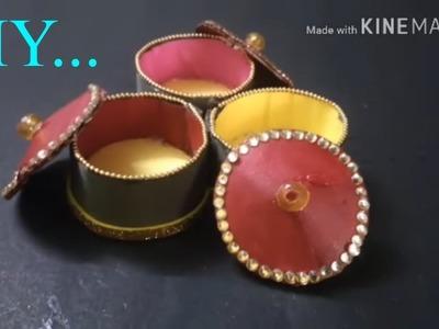 DIY | Cardboard Haldi & Kumkum Box | Storage box from waste | DIYCrafts