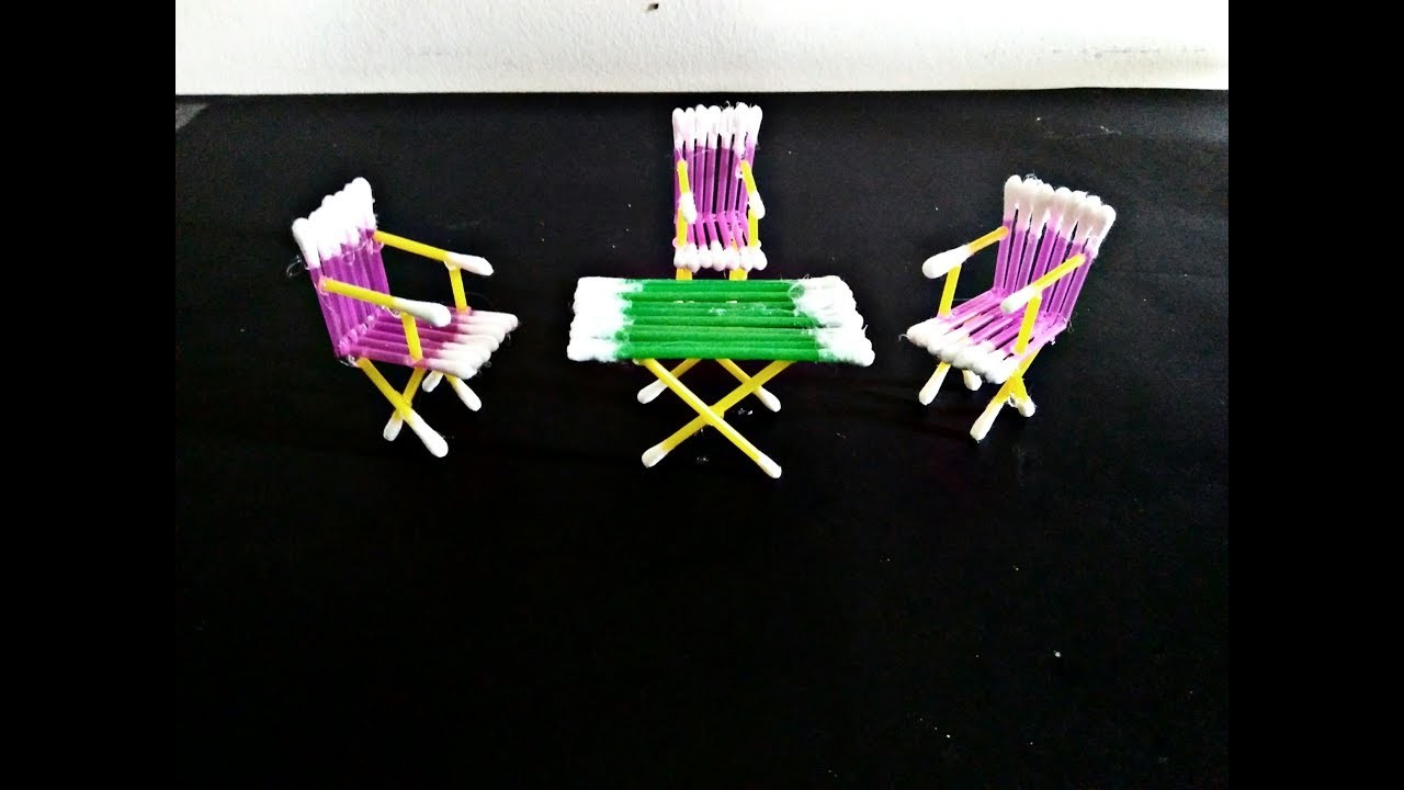 DIY Cotton Buds Table and Chair_Cool idea with cotton buds  by Life Hacks 360