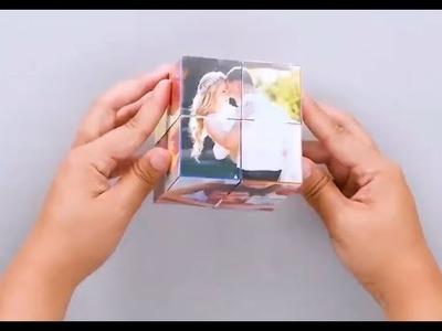 DIY Cube Tricks | Magic photos gift | Crafts