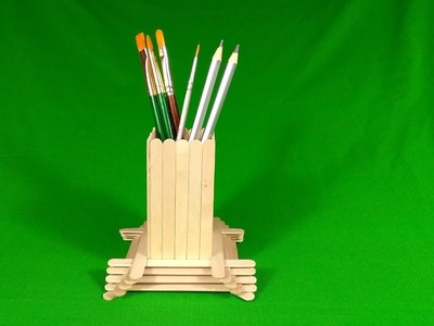 DIY - How to make Pen Stand with Ice Cream Sticks